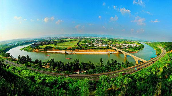 广西百色市田东县气候宜人,风景优美,负氧离子达到8.6万/立方米